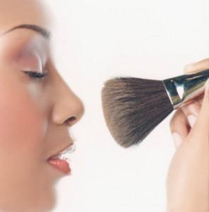 Woman Using Make-up Brush